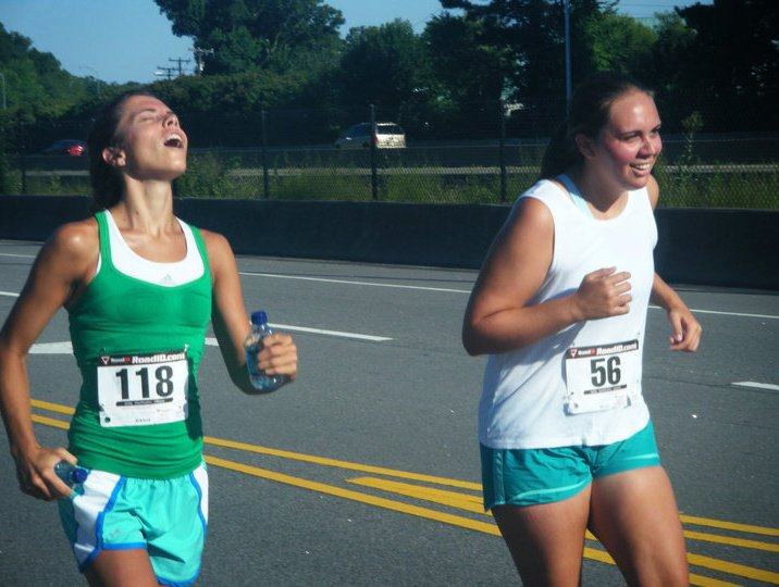 I managed to convinced Anna to run a few races too.