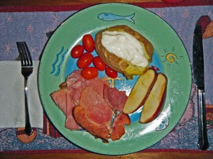 ham and potatoes (and apples)