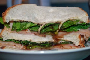 A roast beef sandwich.