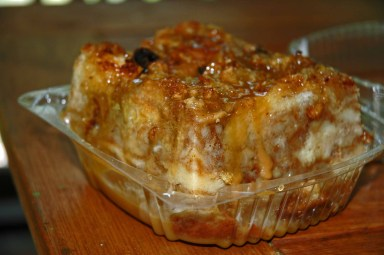Like this bread pudding.  I might go up the road and get some now tonight..