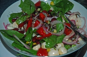 Random salad I attempted to make restaurant worthy...they never are as to why I try and eat salads at restaurants more.