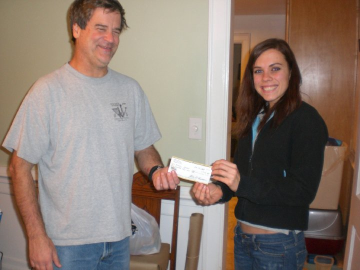 Here is a photo writing my first check ever...somewhat relevant to bills.  I'm on check 47 now.