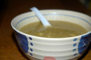 lentil soup (this cold has got me craving it)