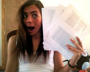 Doing my public health senior seminar paper...being a new rejuvenated woman.