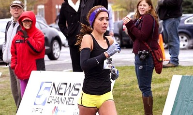 My first overall win at the Plattsburgh half.  1:27.19 and I was also proud.