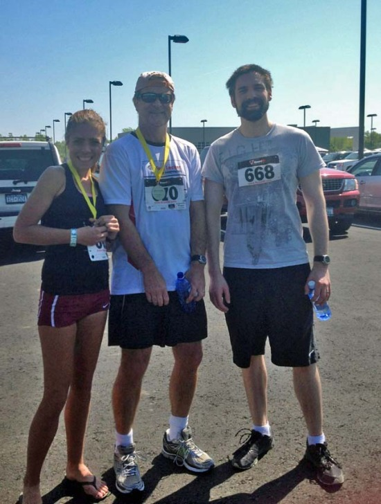 Doug, Dad and I at a race before my graduation,
