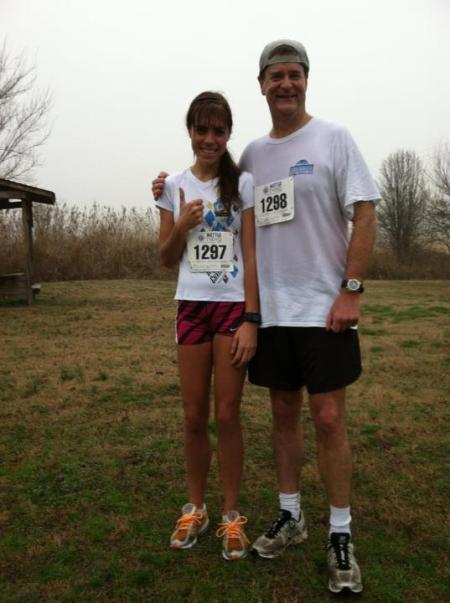 Dad and I post race