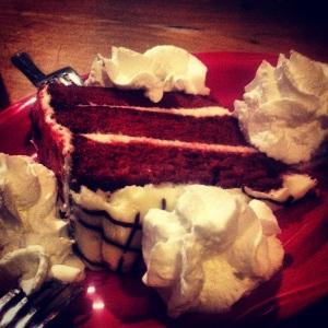 We also split Red Velvet Cake
