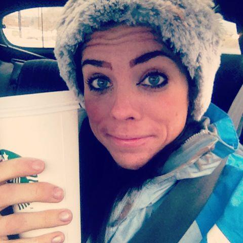 I wore make up once...and then I wore a Russian hat and sipped on a latte.