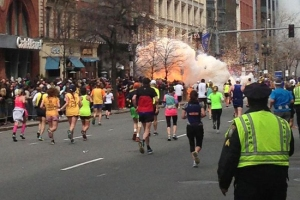 Explosion at the 117th Boston Marathon, Boston, America - 15 Apr