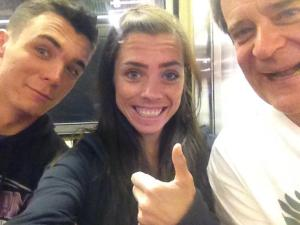 Every this photo of us on a train since it didn't happen unless it was selfied.  #trainselfie