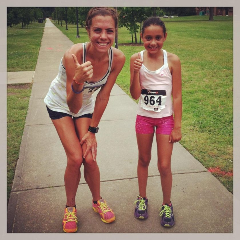 """Another 5k with a local fastie and friend of mine...More """"glory days"""".  Her Glory days still live on ;)"""