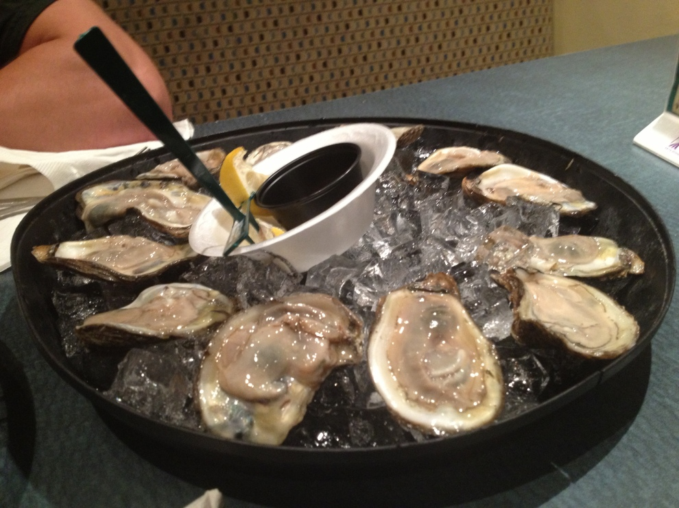 Raw oysters in Pensacola.  Perfect.
