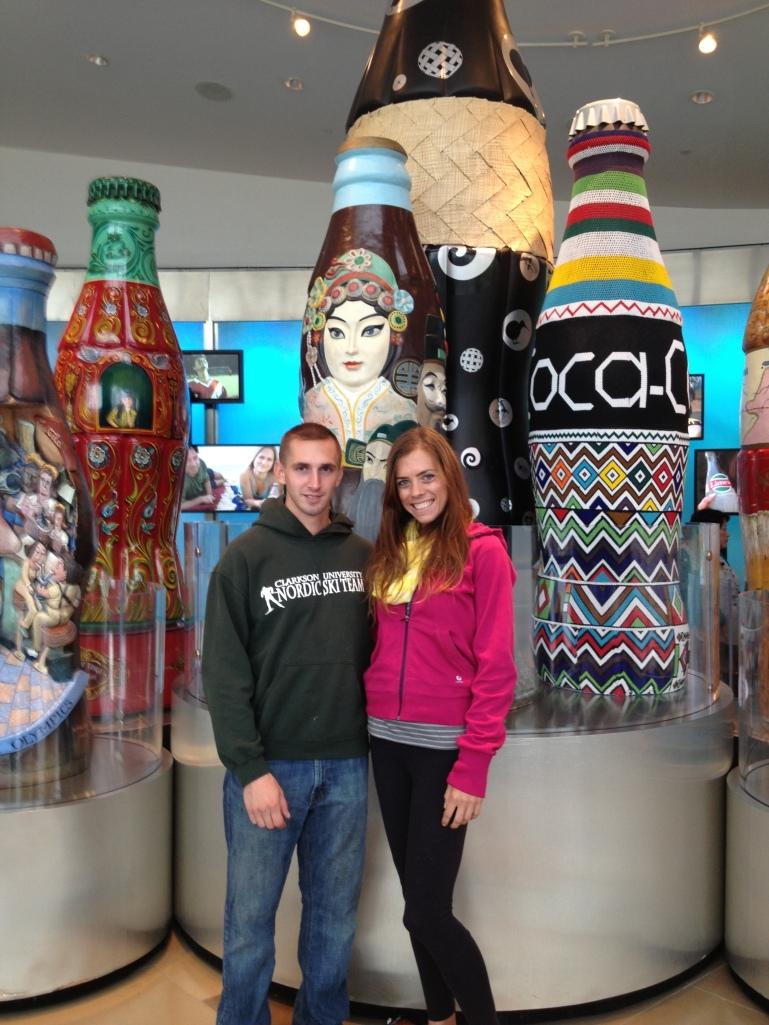 Touring the coke museum