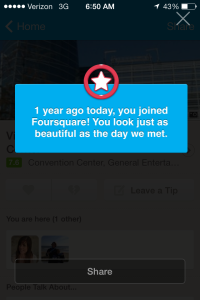 My love for foursquare is a touch too much...