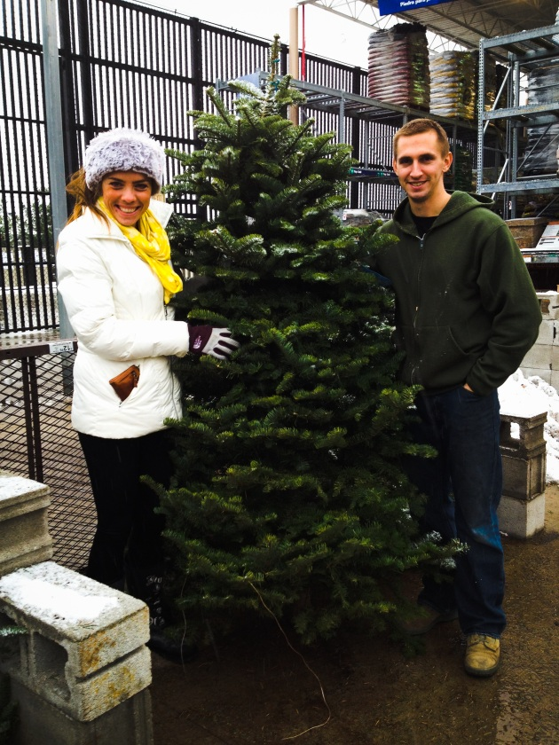 Our first christmas tree choice together.