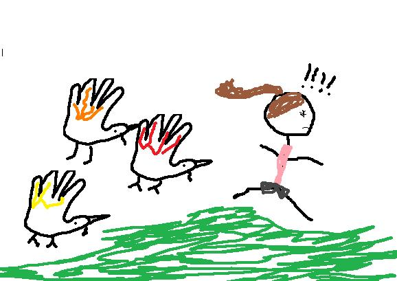 Did you know you can draw hand turkeys on the computer?