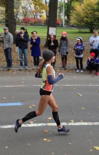 A photo of me running a marathon.
