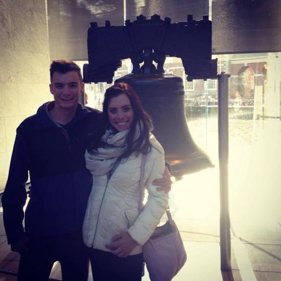 Matt and I Liberty Bell