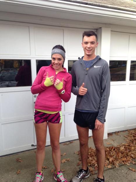 We even got a run together