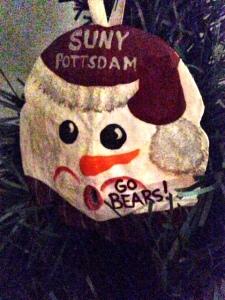 Christmas SUNY ornament