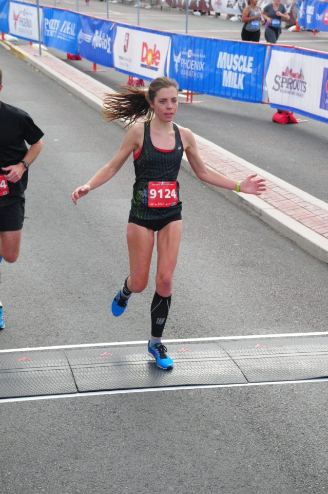 Just crossing the finishing line like a bird...with my flats.