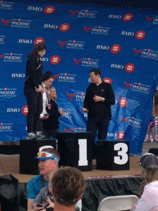 climbing the podium