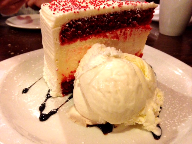 Tops Diner Red Velvet Cheesecake