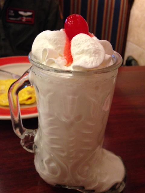 Amys Omelet House milkshake