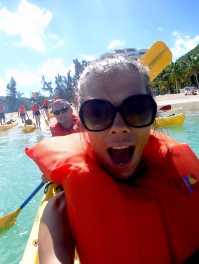 I will take selfies while T paddles the kayak