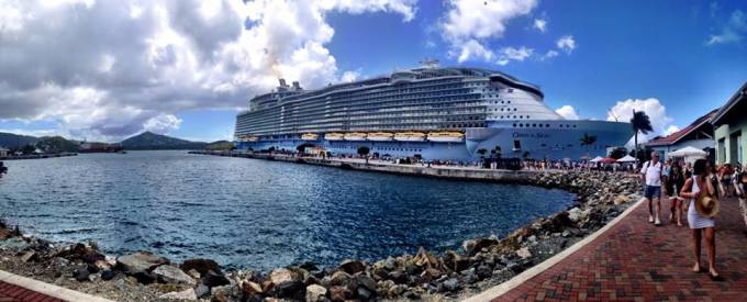 Leaving the ship.