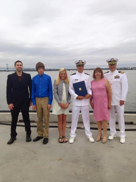 family shot graduation