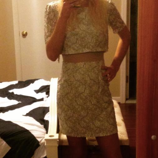 cut out dress abs ruelala