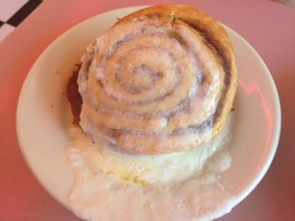 cinnamon bun trolley car diner