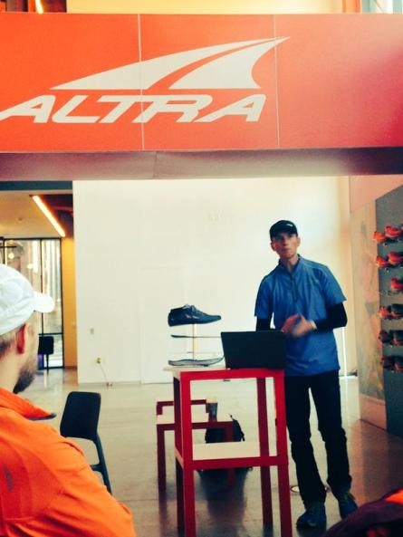 Golden giving us a lesson on Altra