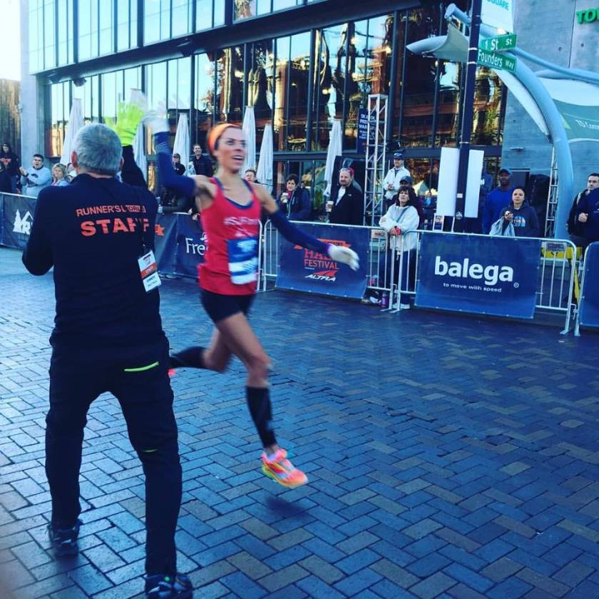 High Fiving Bart at the end of the race