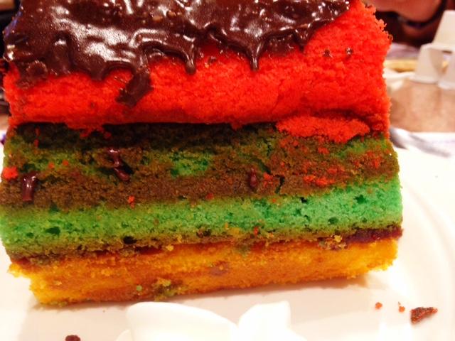 state line diner rainbow cake