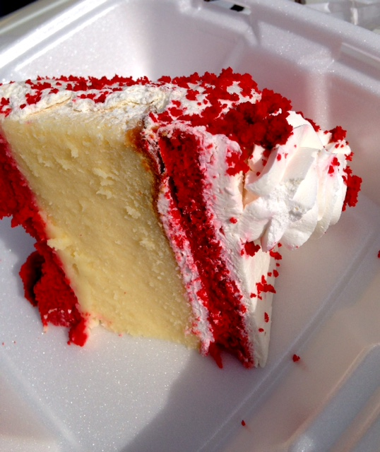 pantagis diner red velvet cheesecake