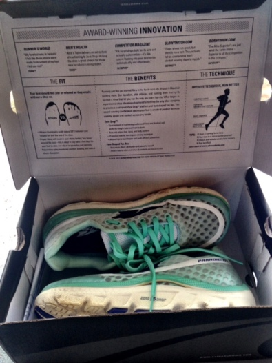 The box comes stocked with plenty of information about running form and the shoe