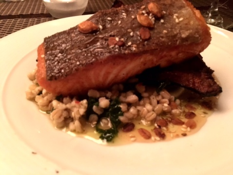 Salmon and Cous Cous Green Street Tavern