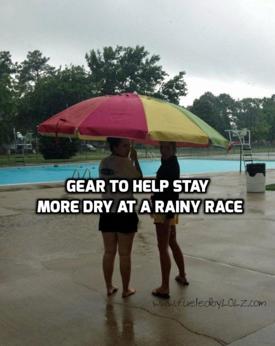Gear to Stay Dry at a Rainy Race