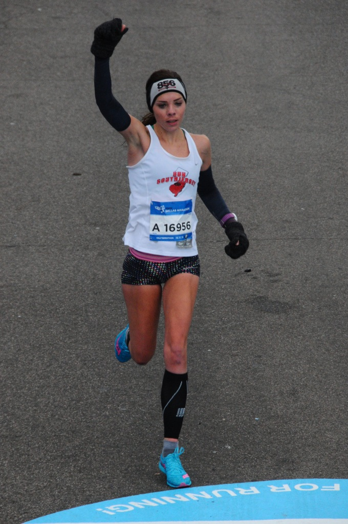 bmw dallas half marathon me running