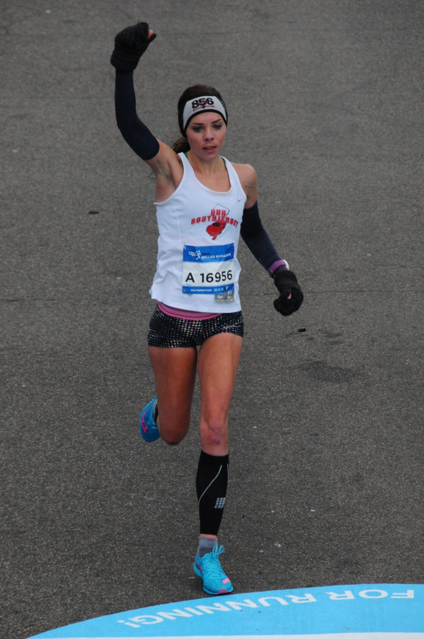 bmw dallas half marathon me running