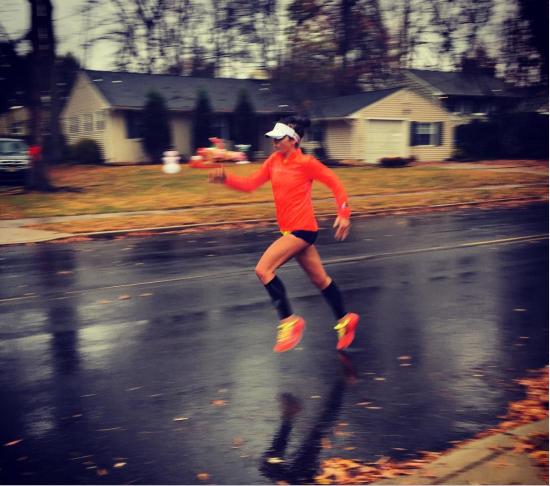 me running rain