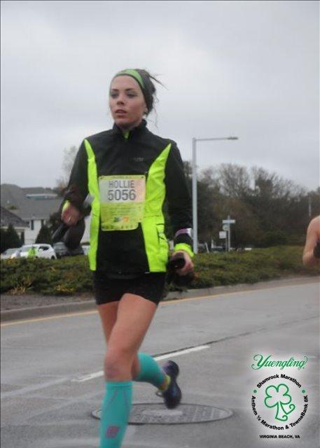 shamrock half marathon me running 2017