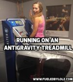 Running on an AntiGravity Treadmill