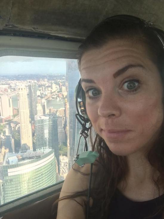 private flying nyc me selfie