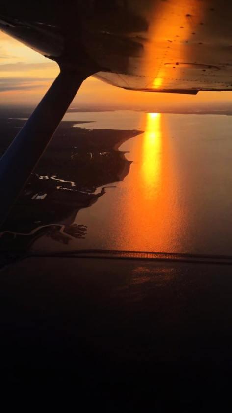 sunset new jersey flight